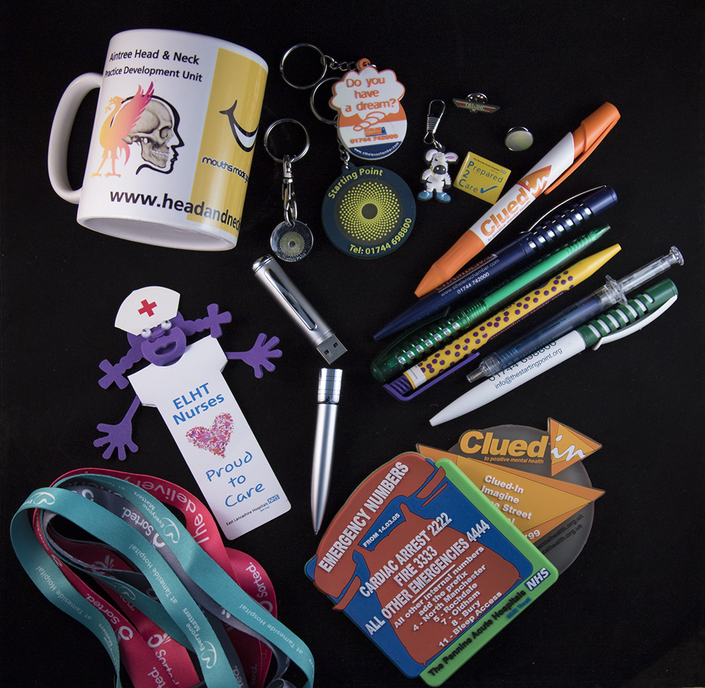 Linbk to the exhibitions and promotional items